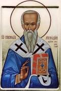 Рукописная икона Мефодий Моравский