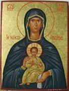 Рукописная икона Никопея Победоносная