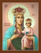 Рукописная икона Озерская