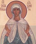 Рукописная икона Олимпиада Константинопольская