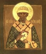 Рукописная икона Петр Александрийский