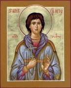 Рукописная икона Петр Алеутский