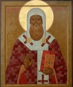 Рукописная икона Серапион Новгородский