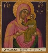 Рукописная икона Сокольская