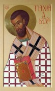 Рукописная икона Тихон Амафунтский