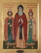 Рукописная икона Феодор Смоленский, и его сыновья Давид и Константин