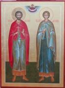 Рукописная икона Фотий и Аникита