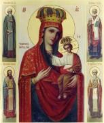 Рукописная икона Черниговская