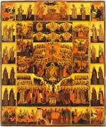 Рукописная икона Шестоднев