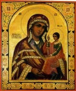 Рукописная икона Шуйская Смоленская
