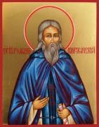 Рукописная икона Роман Киржачский