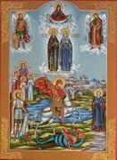 Рукописная семейная икона 34