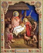 Резная икона Рождество Христово