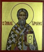 Рукописная икона Киприан Карфагенский