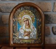 Икона из бисера Умиление Божией Матери