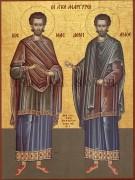 Рукописная икона Косьма и Дамиан