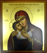 Рукописная икона Ласковая Мать