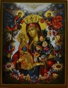 Рукописная икона Неувядаемый Цвет 11