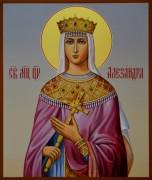 Рукописная икона Святая Александра Римская