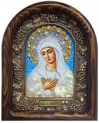 Икона Умиление Божией Матери бисером