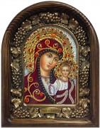 Казанская икона Богородицы бисером (Размер 18*23 см)
