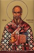 Рукописная икона Аверкий Иерапольский