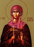 Рукописная икона Агафоклия