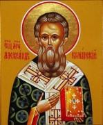 Рукописная икона Александр Команский