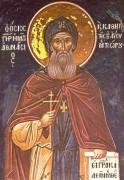 Рукописная икона Афанасий Метеорский