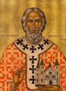 Рукописная икона Виллиброрд Утрехтский