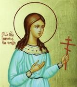 Рукописная икона Гликерия Новгородская