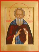 Рукописная икона Григорий Голутвинский