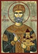 Рукописная икона Давид Строитель Возобновитель