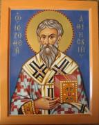 Рукописная икона Иерофей Афинский