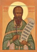Рукописная икона Иннокентий Новосибирский Кикин