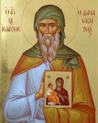 Рукописная икона Иоанн Дамаскин