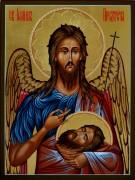 Рукописная икона Первое и Второе обретение главы Иоанна Предтечи