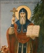Рукописная икона Кукша Печерский