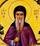 Рукописная икона Леонтий Прозорливый