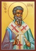 Рукописная икона Лин Апостол Папа Римский