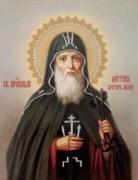 Рукописная икона Лонгин Печерский