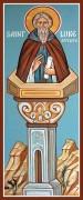 Рукописная икона Лука Столпник Халкидонский