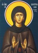 Рукописная икона Матрона Хиосская