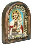 Икона из бисера Александр Невский 5 (Размер 18*23 см)