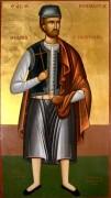 Рукописная икона Михаил Солунский Маврудис