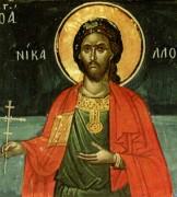 Рукописная икона Николай Севастийский