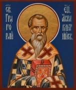 Рукописная икона Григорий Акрагантийский