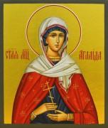 Рукописная икона Святая Аглаида Римская