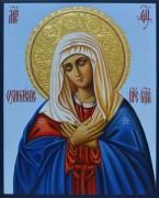 Рукописная икона Умиление Пресвятой Богородицы