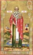Рукописная икона Павел Новый Константинопольский